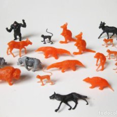 Figuras de Goma y PVC: LOTE DE 19 FIGURAS DE ANIMALES DE PLASTICO. Lote 191404893