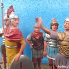 Figuras de Goma y PVC: FIGURA GOMA LEGIONES ROMANAS ROMANOS LOTE DE 5 FIGURAS. Lote 77492793
