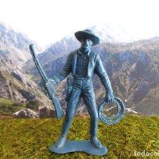 Figuras de Goma y PVC: FIGURA OESTE 'VAQUERO, PISTOLERO, COWBOY 00006', ALTURA 8,7 CM APROX.. Lote 77574537