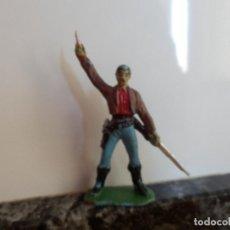 Figuras de Goma y PVC: FIGURA DE PVC VAQUERO OESTE JECSAN . Lote 77601933