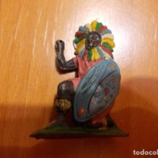 Figuras de Borracha e PVC: GUERRERO DE GOMA AFRICANO, NEGRO, ARCLA. Lote 77635789