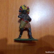 Figuras de Borracha e PVC: GUERRERO DE GOMA AFRICANO, NEGRO, ARCLA. Lote 77636141