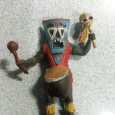 Figuras de Goma y PVC: BRUJO HECHICERO TRIBU GAMA PERCH AÑOS 50. Lote 77809727