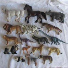 Figuras de Goma y PVC Schleich: 17 FIGURAS DE PLÁSTICO ANIMALES VARIOS DE LA MARCA SCHLEICH. Lote 77811957