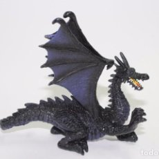 Figuras de Goma y PVC: FIGURA VINTAGE MONSTRUO DRAGON NEGRO MARCA AAA. Lote 78441505