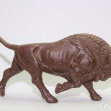 Figuras de Goma y PVC: ANIMALES SOTORRES BISONTE DE PLASTICO. Lote 78453897
