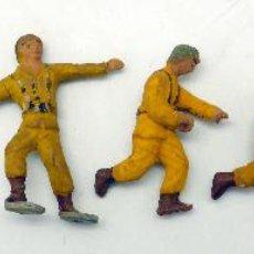 Figuras de Goma y PVC: 8 SOLDADOS AMERICANOS EN ACCIÓN COLOM BASTE COBA EN GOMA AÑOS 40 PRIMERAS FABRICADAS EN ESPAÑA. Lote 78539913