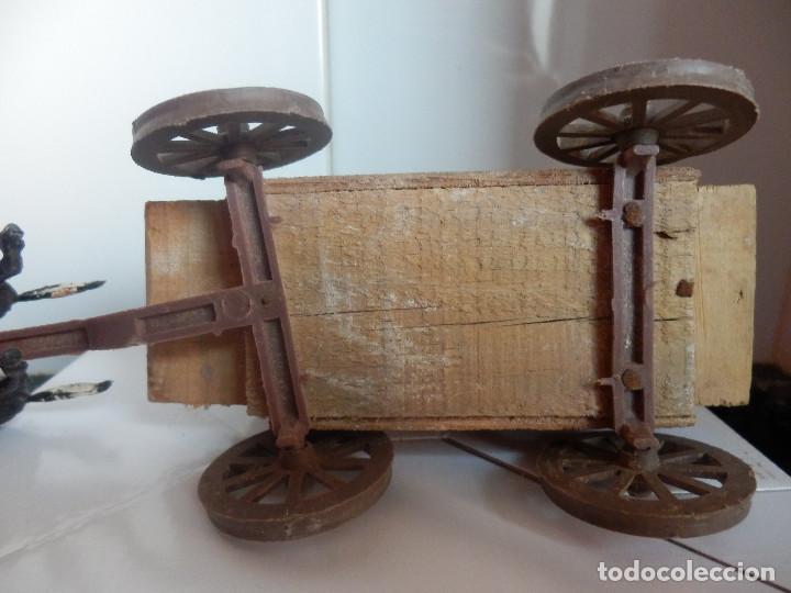 Figuras de Goma y PVC: caravana del oeste con caja original carreta de carga diligencia texas en madera fart west comansi - Foto 4 - 78650669