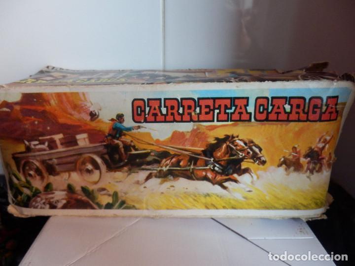 Figuras de Goma y PVC: caravana del oeste con caja original carreta de carga diligencia texas en madera fart west comansi - Foto 5 - 78650669