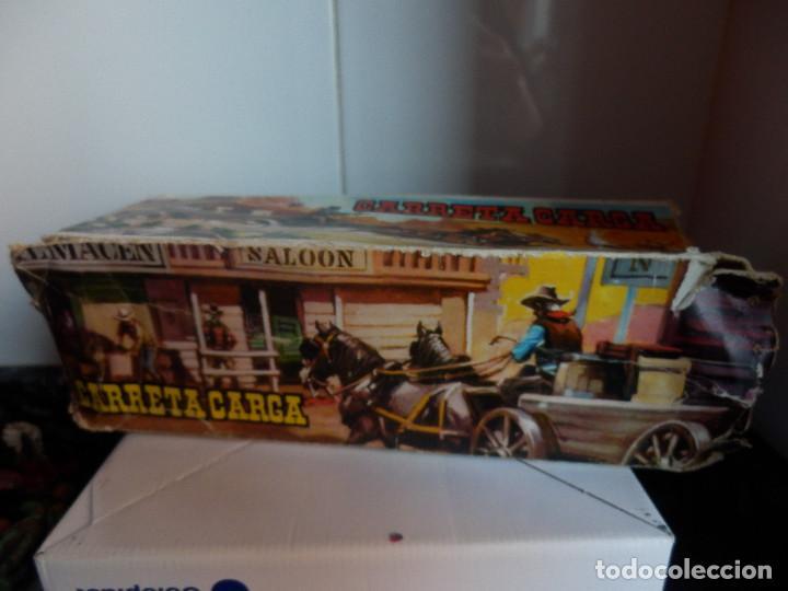 Figuras de Goma y PVC: caravana del oeste con caja original carreta de carga diligencia texas en madera fart west comansi - Foto 6 - 78650669