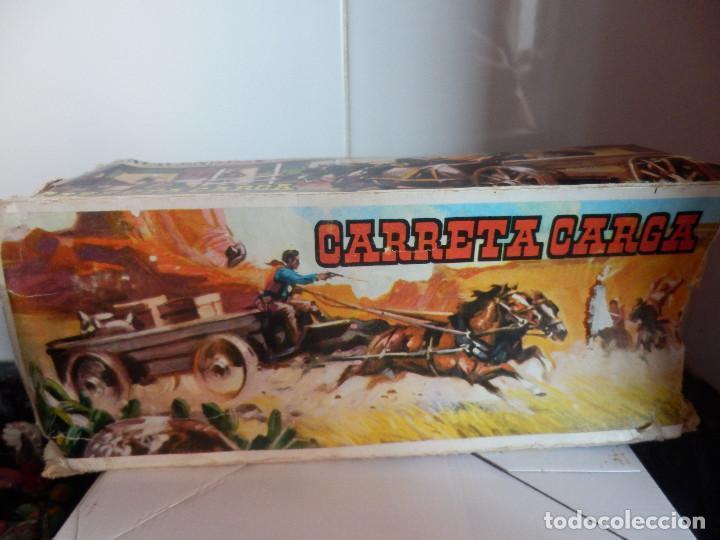 Figuras de Goma y PVC: caravana del oeste con caja original carreta de carga diligencia texas en madera fart west comansi - Foto 7 - 78650669
