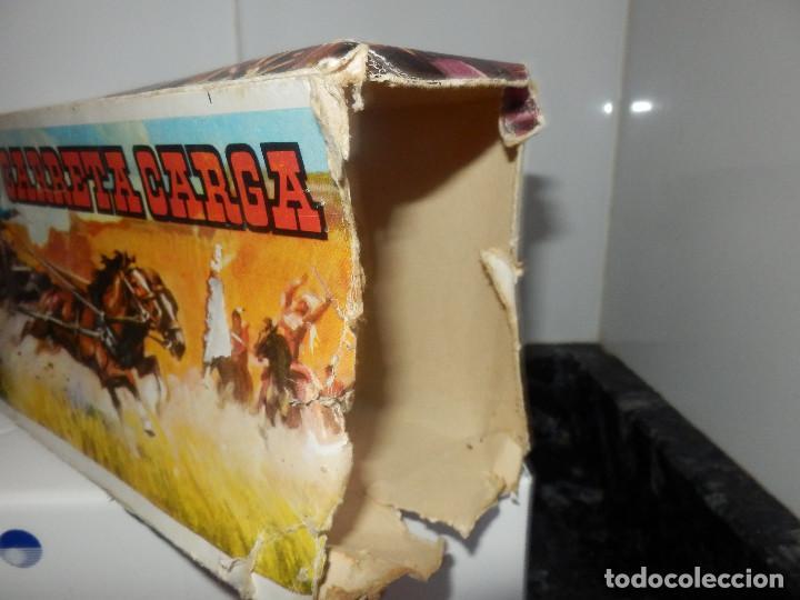 Figuras de Goma y PVC: caravana del oeste con caja original carreta de carga diligencia texas en madera fart west comansi - Foto 9 - 78650669