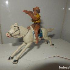 Figuras de Goma y PVC: FIGURA VAQUERO A CABALLO REAMSA OESTE PECH AÑOS 50 ORIGINAL PISTOLERO. Lote 78662721