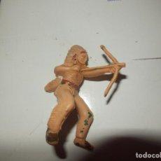 Figuras de Goma y PVC: FIGURA INDIO A CABALLO REAMSA OESTE PECH AÑOS 50 ORIGINAL PISTOLERO. Lote 78663249