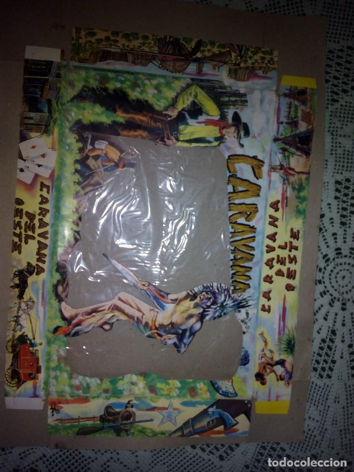 Figuras de Goma y PVC: Caja y lamina de la caravana del oeste sotorres - Foto 2 - 78830061