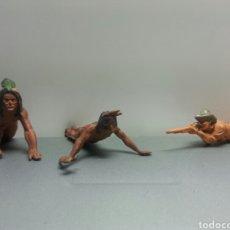 Figuras de Goma y PVC: VAQUEROS INDIOS GAMA AÑOS 50. Lote 78840239