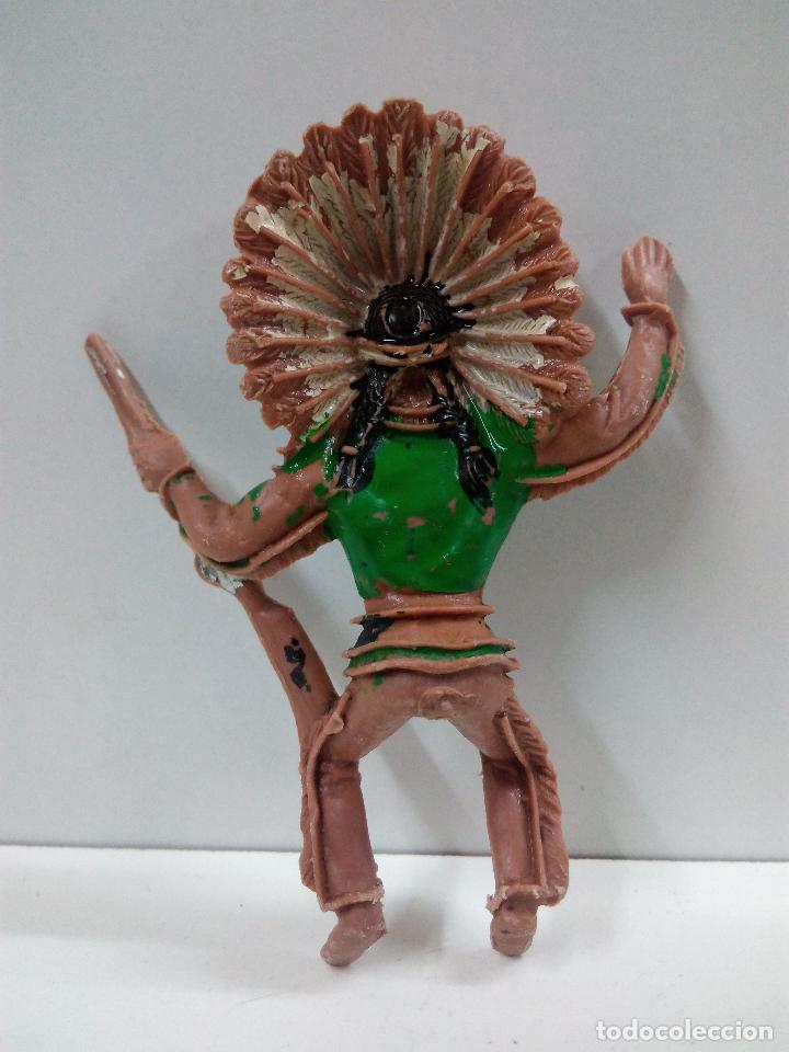 Figuras de Goma y PVC: JEFE INDIO PARA CABALLO . REALIZADO POR COMANSI - Foto 2 - 79036477