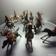Figuras de Goma y PVC: INDIOS GOMA GAMA AÑOS 50. Lote 79052999
