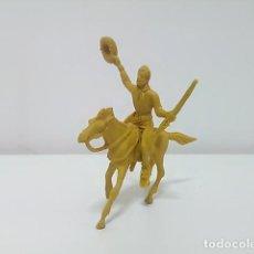 Figuras de Goma y PVC: FIGURA VAQUERO CON CABALLO COMANSI?. Lote 79131173