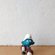 Figuras de Goma y PVC Schleich: FIGURA MUÑECO PITUFO PVC LOS PITUFOS BOXEADOR. Lote 79146685