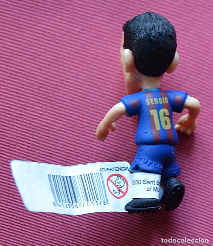 Figuras de Goma y PVC: SERGIO BUSQUETS - COMANSI - NUEVO CON SU ETIQUETA - PRODUCTO OFICIAL FUTBOL CLUB BARCELONA - BARÇA - Foto 2 - 79209625