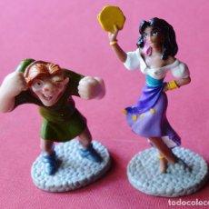 Figuras de Goma y PVC: ESMERALDA Y EL JOROBADO DE NOTRE DAME - DISNEY - APPLAUSE - AÑOS 90 - NUEVAS. Lote 79307697