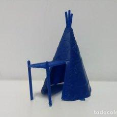 Figuras de Goma y PVC: TIPI PLÁSTICO MONOCROMO INDIOS Y VAQUEROS. Lote 79312961