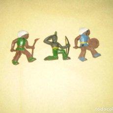 Figuras de Goma y PVC: LOTE DE TRES INDIOS JECSAN. Lote 123084415