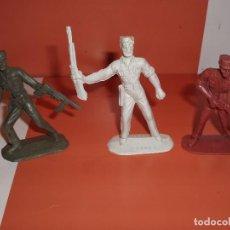 Figuras de Goma y PVC: SOLDADO COMANSI CUBANO TRES FIGURAS 1ª EPOCA CUBANOS. Lote 79701725