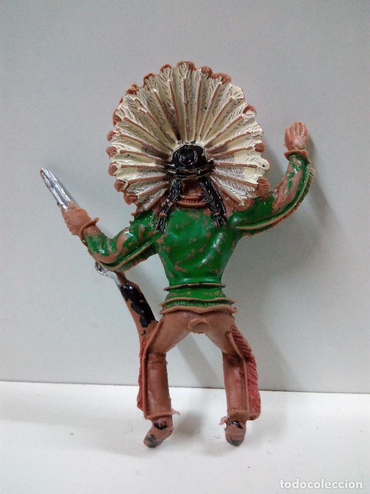 Figuras de Goma y PVC: JEFE INDIO PARA CABALLO . REALIZADO POR COMANSI . - Foto 2 - 79797533