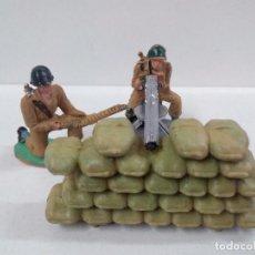 Figuras de Goma y PVC: POSICION NORTEAMERICANA DE AMETRALLADORA . REALIZADA POR PECH . AÑOS 60. Lote 80103649