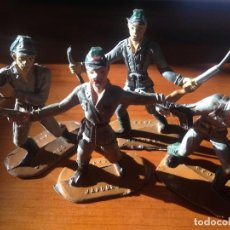 Figuras de Goma y PVC: FIGURAS DE PLÁSTICO SOLDADOS EJERCITO JAPONES. Lote 80111189