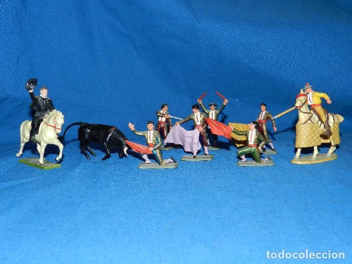 (M) LOTE DE 11 FIGURAS DE PLASTICO STARLUX , FIGURAS DE TOREROS ( TORERO ) , MUY BUEN ESTADO (Juguetes - Figuras de Goma y Pvc - Starlux)