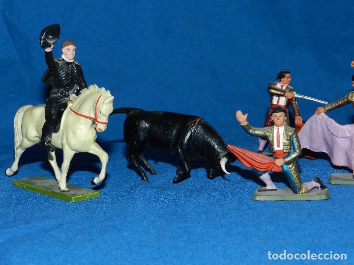 Figuras de Goma y PVC: (M) LOTE DE 11 FIGURAS DE PLASTICO STARLUX , FIGURAS DE TOREROS ( TORERO ) , MUY BUEN ESTADO - Foto 2 - 80229021