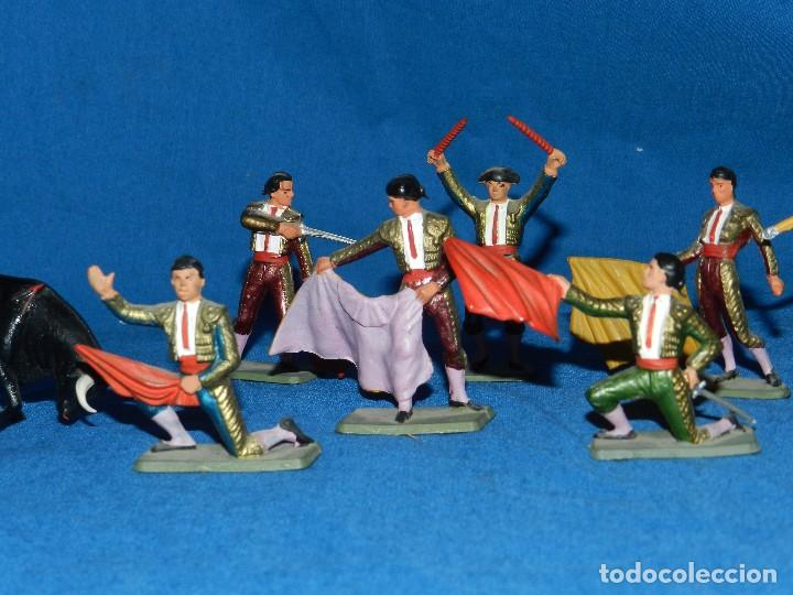 Figuras de Goma y PVC: (M) LOTE DE 11 FIGURAS DE PLASTICO STARLUX , FIGURAS DE TOREROS ( TORERO ) , MUY BUEN ESTADO - Foto 3 - 80229021