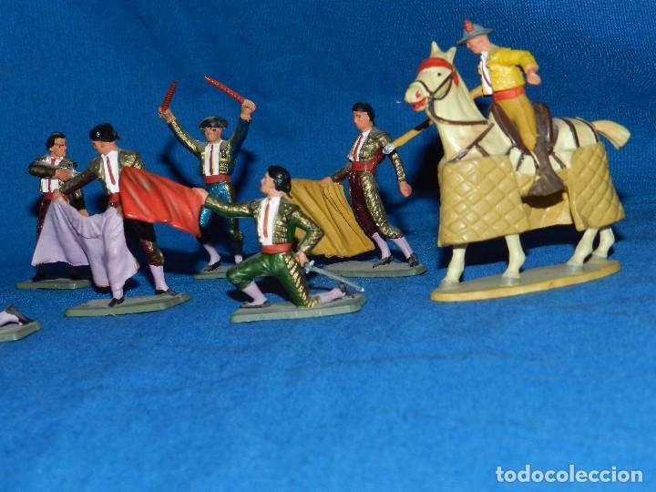 Figuras de Goma y PVC: (M) LOTE DE 11 FIGURAS DE PLASTICO STARLUX , FIGURAS DE TOREROS ( TORERO ) , MUY BUEN ESTADO - Foto 4 - 80229021