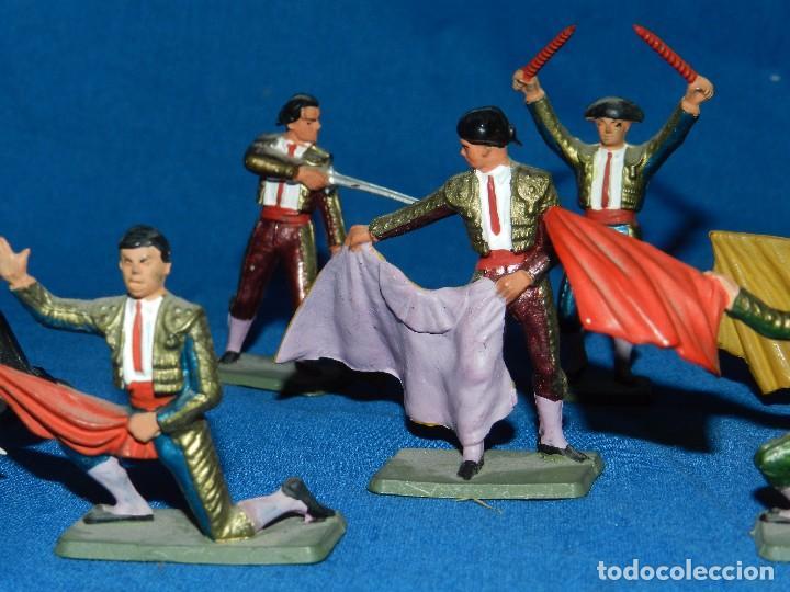 Figuras de Goma y PVC: (M) LOTE DE 11 FIGURAS DE PLASTICO STARLUX , FIGURAS DE TOREROS ( TORERO ) , MUY BUEN ESTADO - Foto 6 - 80229021