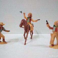 Figuras de Goma y PVC: LOTE DE FIGURAS VAQUEROS - COWBOYS Y CABALLO . REALIZADOS POR LAFREDO . AÑOS 60. Lote 80383049