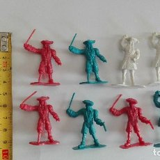 Figuras de Goma y PVC: FIGURAS MOSQUETEROS PVC AÑOS 80-90 CHINA JUGUETE DE KIOSKO NO MONTAPLEX BARATIJA. Lote 80390161