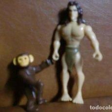 Figuras de Goma y PVC: FIGURA/MUÑECO DE PLASTICO DURO: TARZAN Y CHITA-. Lote 80604590