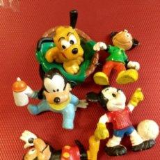 Figuras de Goma y PVC: LOTE DE 5 FIGURAS 1 COMICS SPAIN AÑO 80 MICKEY, OTRAS SIN MARCA, DOS BULLY GERMANY Y EL RESTO SIN. Lote 80746042
