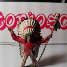 Figuras de Goma y PVC: FIGURA COMANSI 60 JEFE INDIO. Lote 80993280
