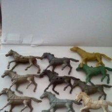 Figuras de Goma y PVC: LOTE CABALLOS COMANSI REAMSA PECH. Lote 81090935