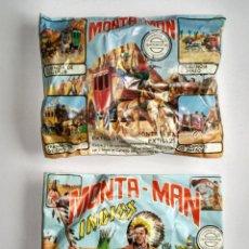 Figuras de Goma y PVC: LOTE MONTAPLEX - 2 SOBRES MONTAMAN EL Nº 21 Y EL Nº 7 PARA COMBINAR SU CONTENIDO. Lote 81405152