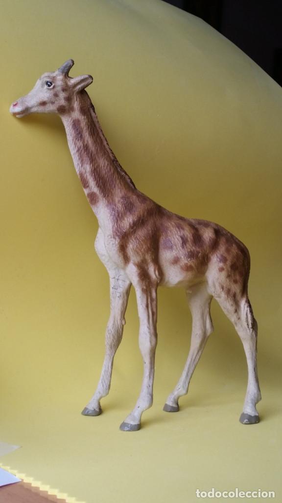 Figuras de Goma y PVC: JIRAFA LINEOL 1930 ZOO ANIMALES SALVAJES EXTRAORDINARIA PERFECTA PARA ARCLA - Foto 3 - 81570048