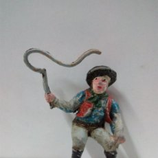 Figuras de Goma y PVC: VAQUERO - COWBOY CONDUCTOR DE CARRETA O DILIGENCIA . REALIZADO POR TEIXIDO . AÑOS 50 EN GOMA. Lote 81697764