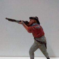 Figuras de Goma y PVC: VAQUERO - COWBOY . REALIZADO POR TEIXIDO . AÑOS 50 EN GOMA. Lote 81698048