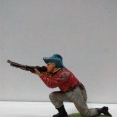 Figuras de Goma y PVC: VAQUERO - COWBOY . REALIZADO POR TEIXIDO . AÑOS 50 EN GOMA. Lote 81698172