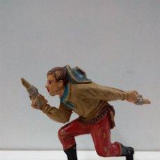 Figuras de Goma y PVC: VAQUERO - COWBOY . REALIZADO POR TEIXIDO . AÑOS 50 EN GOMA. Lote 81698768