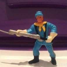 Figuras de Goma y PVC: FIGURA PVC PISTOLERO RIFLE AZUL COMANSI YANKEE YANQUI. Lote 81839110